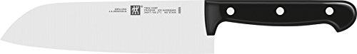 ZWILLING Santokumesser, Klingenlänge: 18 cm, Großes Klingenblatt, Rostfreier Spezialstahl/Kunststoff-Griff, Twin Chef