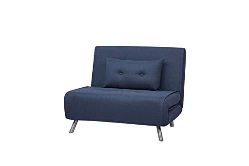 Canapé convertible Bleu Tissu Confort