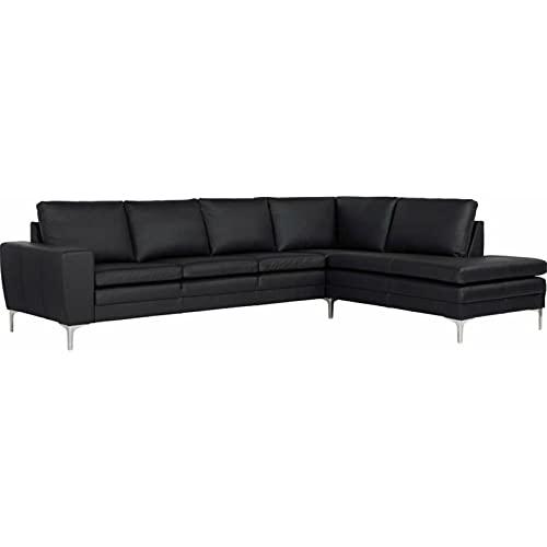 Sofa Couch Home Living Sitzgelegenheit Wohnzimmer Ecksofa Leder schwarz Twigo   Löhne Möbeldiscount