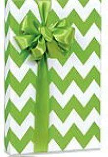 APPLE GREEN & WHITE CHEVRON STRIPE Gift Wrap Wrapping Paper - 16ft Roll