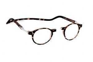 Reading Glasses CliC Flex Brooklyn Matt Frosted Tortoishell-Strength +2.50