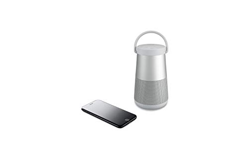 Bose SoundLink Revolve+, tragbarer 360°- Bluetooth - Lautsprecher mit langer Akkulaufzeit, Silber