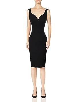 GRACE KARIN Women Sleeveless Deep V Neck Casual Cocktail Pencil Dress Black