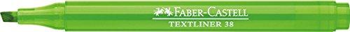 FABER-CASTELL TEXTLINER 38 - Rotuladores fluorescentes (10 unidades), color verde