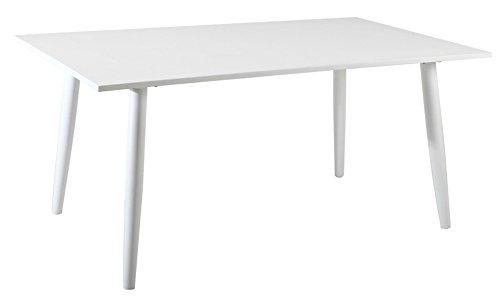 PEGANE Table en Aluminium Coloris Blanc- Dim : 160 x 90 cm