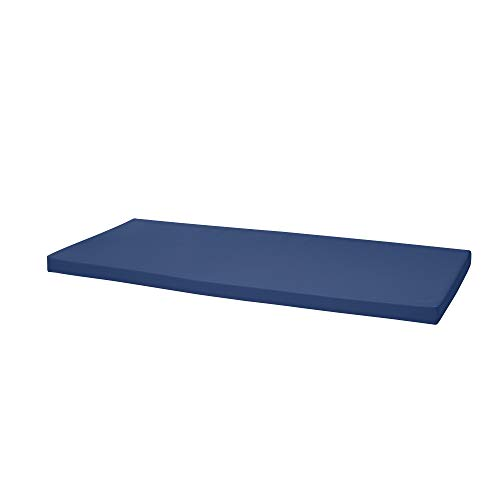 Waterproof Garden Bench Outdoor Pad 108x45x4cm | Patio Furniture 2 Seater Cushion | Water Resistant Material | Chaise Swing Chair Cushion |Indoors Seat Pads | Dark Blue