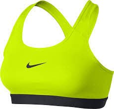 Nike Women's Pro Bra Volt/Black/Black Sports Bra SM