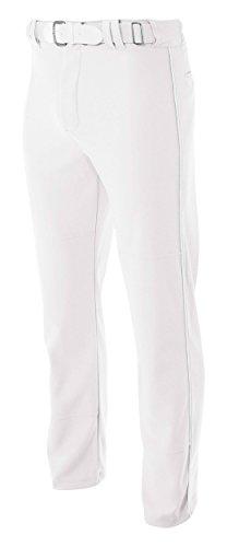 A4 N6178 Pro-Style Open Bottom Baseball Pant, White, 3X-Large