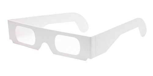 Multispektralbrille (5 Stück) - Hochwertige Prismabrille aus Papier zeigt Licht in Regenbogenfarben | Ideal für Feuerwerk, Partys und physikalische Experimente