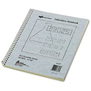 ** Wirebound Duplicate Lab Notebook, Quadrille Rule, 9 x 11, 100 Sheets by 5COU:Lidl-pl