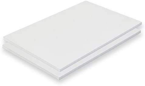 Cartón Pluma- 10 Unidades Tamaño A3 (42x29,7 cm) Espesor de 5 m/m (Blanco)