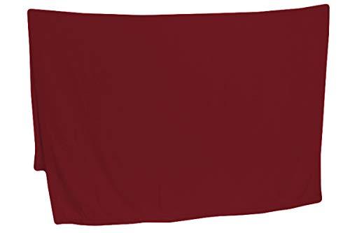 R.P. Daunex Decke aus weichem Fleece, einfarbig, originell weich, 130 x 160 cm, Bordeaux