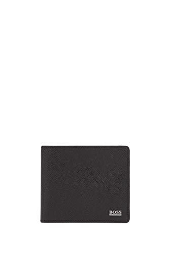 BOSS Herren Signature 8 cc Geldbörse aus Palmellato-Leder aus der Signature Collection,Schwarz,Einheitsgröße