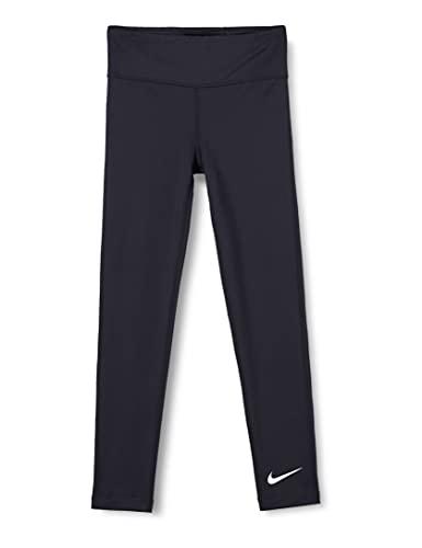 Nike Girls One Leggings, Black/(White), M