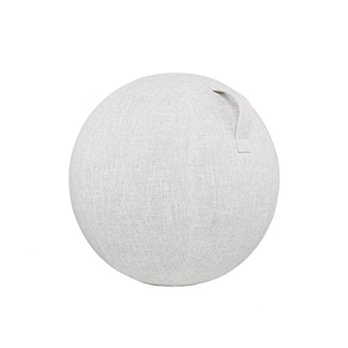 55/6575 cm – Funda para pelota de yoga, gimnasia, pilates, yoga, balones de oficina (beige, tamaño: 55 cm)