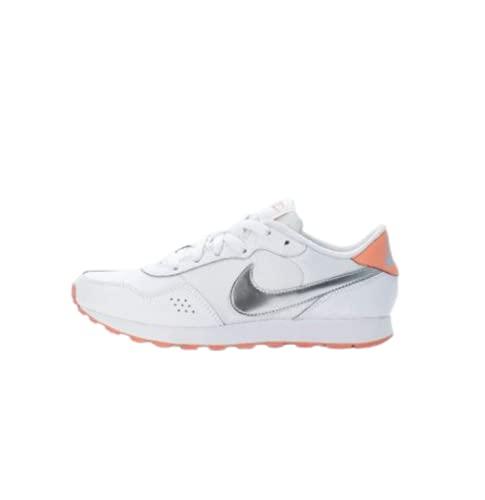 Nike MD Valiant BG, Zapatillas Deportivas, White Mtlc Silver Crimson Bliss, 36.5 EU