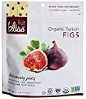 Fruit Bliss, 4 Flavors (Turkish Figs, Turkish Apricots, Deglet Nour Dates, French Agen Plums), Pack of 4, Organic Dried Fruit Assorted Variety Pack, 5 oz (142g)