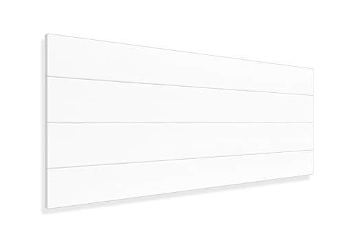 LA WEB DEL COLCHON - Cabecero de Madera Rústico Vintage para Cama de 90 (100 x 44 cms.) Blanco nórdico | Cabeceros Madera...