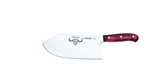 Giesser Qualitätsmesser Küchenmesser Metzgermesser Beil Butcher No. 1 Premiumcut - 22 cm Klingenlänge (Red Diamond)