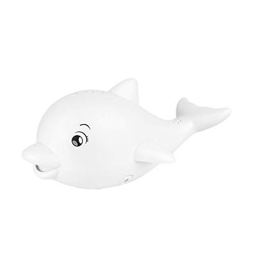 Ishine Juguetes de baño de bebé de inducción eléctrica Dolphin Spray de agua Juguete de ducha de juguete con luz y música (no incluye batería)