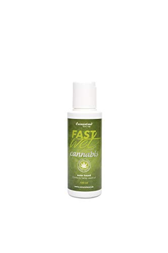Extasialand Fastwet Cannabis Gleitgel 100 ml Gleitmittel auf Wasserbasis mit Sativa Hanfsamen Öl water based lube