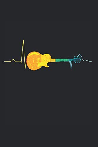 Guitarra colorida: Din A5 cuaderno de guitarras de regalo con 120 páginas