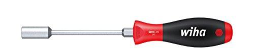 Wiha Schraubendreher SoftFinish® Sechskant-Steckschlüssel mit Rundklinge und Sechskantansatz (01093) 8 mm x 125 mm ergonomischer Griff für kraftvolles Drehen, Allrounder für Industrie und Handwerk
