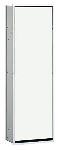 Emco Asis 300 inbouw badkamerkast, inbouwkast voor badkamer en toilet, kleur chroom/glas optiwhite - 977027863