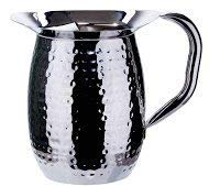 Winco WPB-3CH, 3-Quart Stainless Steel Bell Pitcher with Ice Guard,Sophisticated Carafe, Hammered