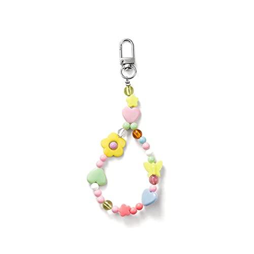 Pulsera de color Llavero Colgante Correa de muñeca para las mujeres Accesorios de cadenas de llaves para regalo, llaveros, bolsas colgantes, accesorios ( Color : Multi-colored , tamaño : DD 5piece )