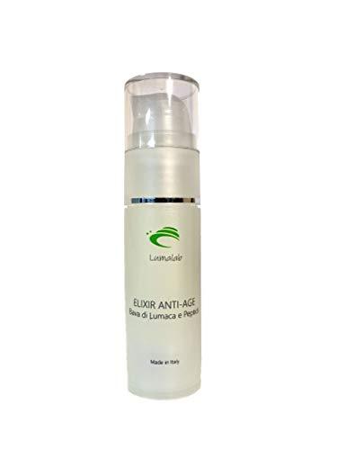 LumaLab Elixir Anti-Age con Baba de Caracol y Péptidos de última generación con acción Antiarrugas, Voluminizadora y Voluminizadora, 100% Made in Italy, 30 ml