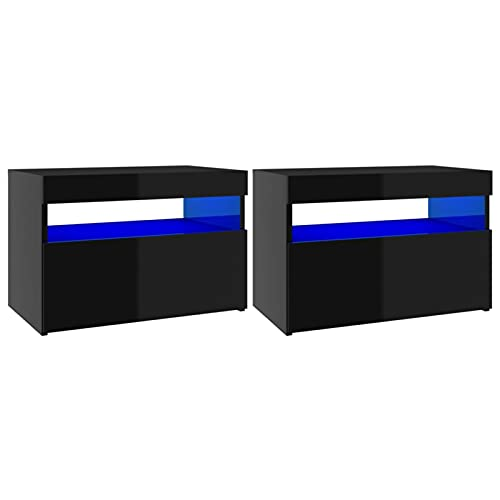 Susany Mueble para TV Moderno con Luces LED 2 uds Mesa para...