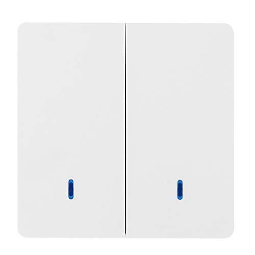 Interruptor de Luces del Panel, Panel de Interruptor de Pared de Control Doble de una vía Interruptor Remoto Dispositivo de Control Inteligente 220V