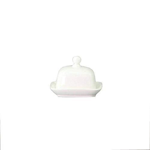QINGJIA Fry Erving cesta mantequilla platos de cerámica blanca pura mantequilla plato de sushi pequeño plato con queso y mantequilla de queso plato occidental caja del condimento del plato Accesorios