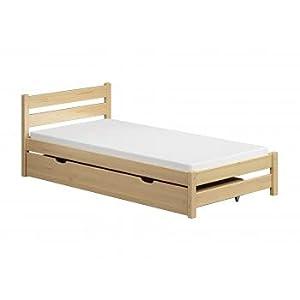 Children's Beds Home - Cama individual - Apollo para niños pequeños y adolescentes - Tamaño 190x90, Color Natural, Cajón Grande Individual, Colchón None