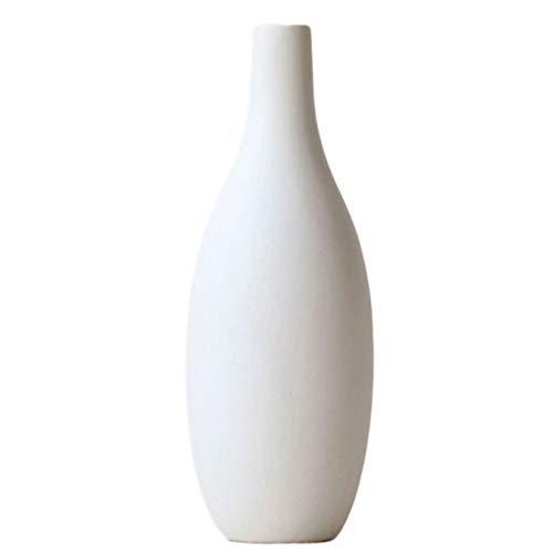 ZXM Florero Jarrón Florero de cerámica Blanca, decoración de cerámica Decorativo for Dormitorio Sala de Estar Inicio hidropónico de contenedores for el hogar decoración de la Boda