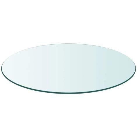 Tapa de Cristal para Mesa Redonda en Varias Medidas con Forma Circular Vidrio (Redondo 100 cm)