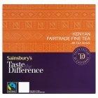 Sainsburys (セインズベリー) ケニヤ ティーバッグ テイスト ザ ディファレンス x 80