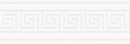 A.S. Création selbstklebende Bordüre Only Borders Borte 5,00 m x 0,13 m metallic weiß Made in Germany 936471 93647-1