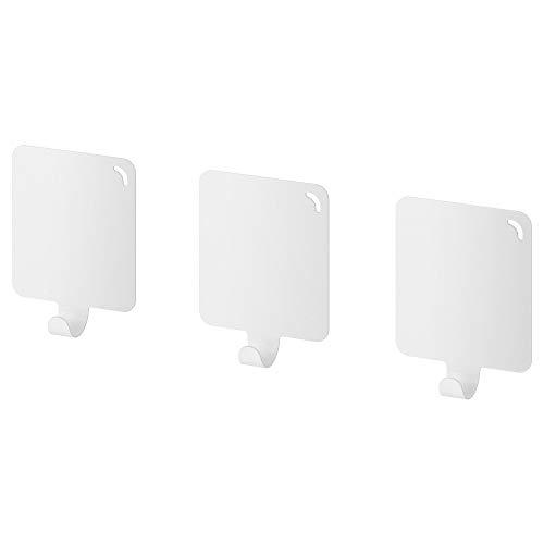 Ikea Plutt Hook 803.471.01, selbstklebend, Weiß, 3 Stück