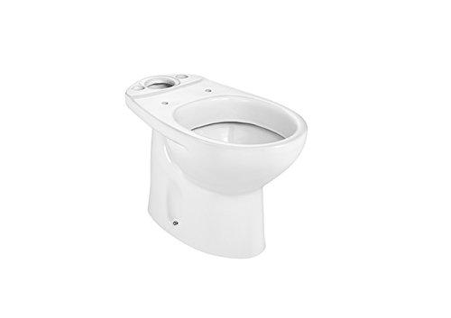 Roca A342394000 Colección Victoria - Inodoro con salida a suelo (cisterna y tapa no incluidos), color blanco