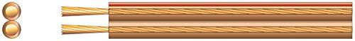 Mercurio 2x (24x 0,2mm) economía Transparente Cable de Altavoz