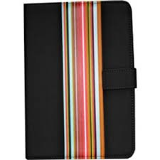 Universal 9/10' Black Striped PVC Tablet Case/Cover - 100-BST-GRA