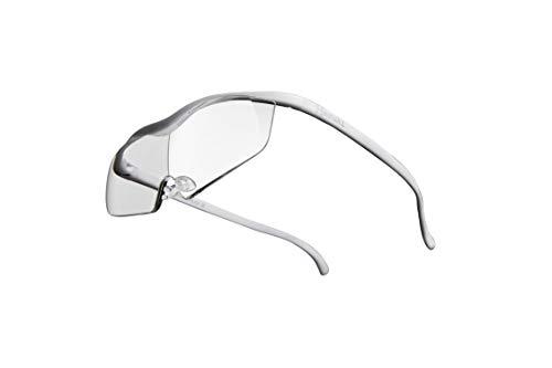 Hazuki ハズキルーペ 直営店 公式店 限定 倍率交換保証付き ラージ 1.85倍 クリアレンズ 白 ハズキ 拡大鏡 ルーペ メガネ型 眼鏡型 めがね型 メガネ 眼鏡 めがね 日本製 MADE IN JAPAN ギフト