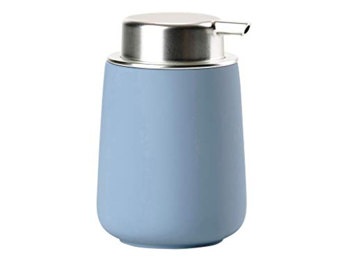 Zone Denmark Nova Seifenspender für Flüssigseife, Porzellan mit Soft Touch-Beschichtung, blau