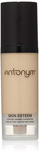 Antonym Cosmetics Skin Esteem Organic Liquid Foundation, Nude, 1.06 Fl Oz