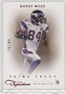 Randy Moss #/99 (Football Card) 2011 Panini Prime Signatures - [Base] - Prime Proof Red #140