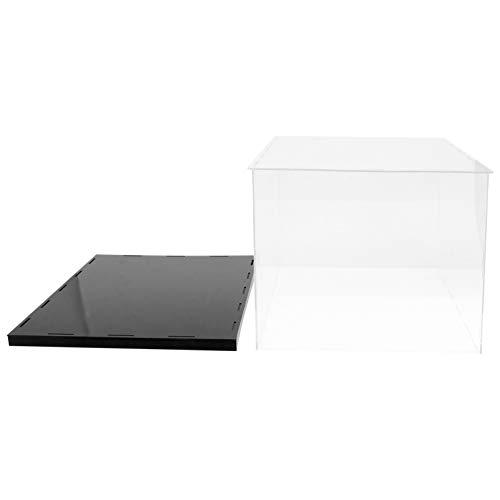 Cabilock Acryl Vitrine Transparent Staubdicht Selbstmontage Showcase Display Case Schaukasten Boxen für Spielzeug Modell Sammlerstücke Minifiguren Miniature Ornament 35X25CM
