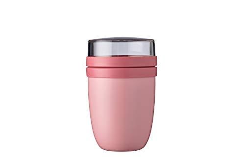 Mepal Lunchpot Ellipse Nordic pink – 500 ml praktischer Thermo-Essensbehälter, Joghurtbecher, to go Becher – Hält Speisen Lange warm oder kühl, Kunststoff, 500 + 200 ml