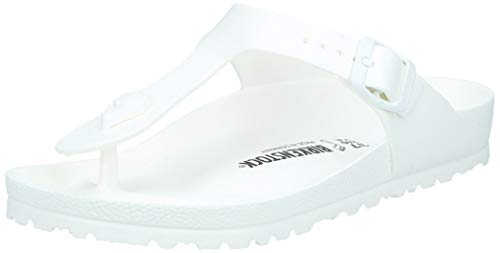BIRKENSTOCK Unisex-Erwachsene Gizeh Zehentrenner, Weiß (White), 40